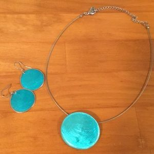 Touquiose Necklace and Earring Set